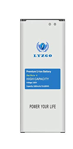 LTZGO Ersatz Akku Samsung Galaxy Note 4 MIT hoher Kapazität 3280mAh Repair Batterie Polymer-Lithium-Batterie 2020 Baujahr -Ohne NFC