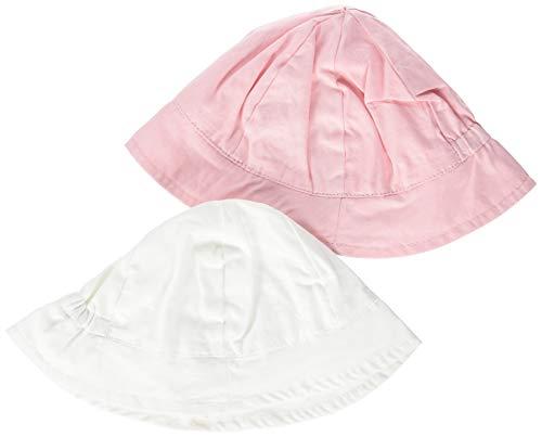 NAME IT Baby-Mädchen Sonnenhut NBFDAFYPSI 2P UV HAT, 2er Pack, Weiß (Bright White), 45 (Herstellergröße: 45/47)