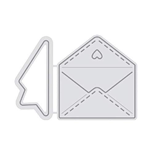 zmigrapddn Stanzschablone, Briefumschlag-Design, Metall, Prägewerkzeug, Schablone, Schablone, DIY Album, Papier, Karten, Basteln silber