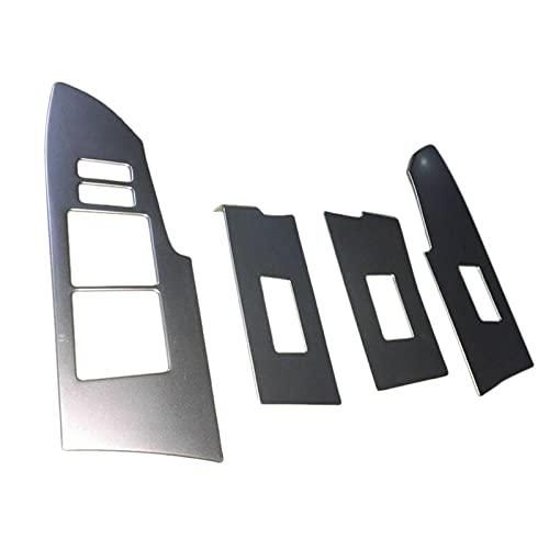 Cubierta de interruptor de ventana de reposabrazos de puerta Interior de coche 4 Uds ajuste para Toyota Corolla 2014-2018