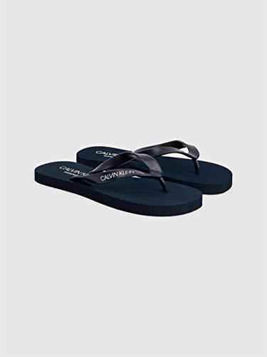 Calvin Klein Flip-Flops Slipper Unisex Swimwear CK Artikel KM0KM00497 FF Sandals, CBK Black iris, Piede 43/44