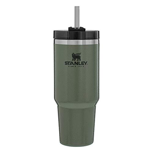 Stanley Adventure Reusable Vacuum Quencher Tumbler with Straw, Leak Proof Lid, Insulated Cup, Maintains Heat for 4 Hours, Cold for 5 hours, and Ice for 30 Hours - 20oz
