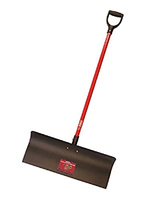 Bully Tools 92819 Steel Snow Pusher with Fiberglass D-Grip Handle, 30""