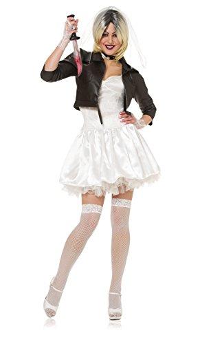 Costume Culture Women's Licensed Bride Of Chucky Costume, White, Medium