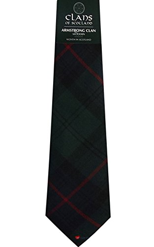 I Luv LTD Armstrong Clan 100% Wool Scottish Tartan Tie
