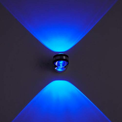 LED kreative Wandleuchte, moderne/zeitgenössische bündige Metallwandlampen-Dekorations-Befestigungen für Hintergrund-Wand-Flur-Partei, 6W, 85-265V,blue