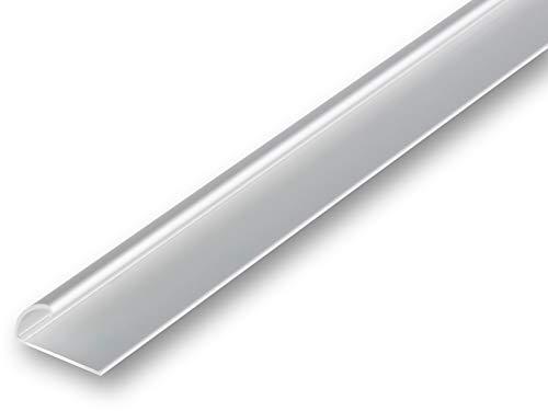 (5,51€/m) Teppich-Kantenschutz Profil Einklemmprofil | Abschlussprofil | Klemmprofil | selbstklebend (1180 mm (selbstklebend), silber)