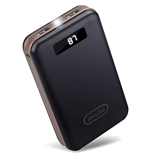 imuto 20000mAh Portable Charger Compact Power Bank External Battery Pack LED Digital Display Smart Charge Compatible with iPhone 12 Max Pro 11 XR 10 7 Plus, Samsung S10 Plus, Note 10, Tablets & More