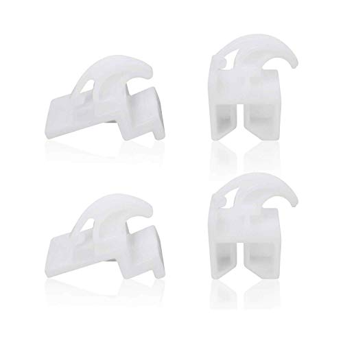 Wadoy Refrigerator Front Drawer Glide 3051162 (2pc) and Rear Drawer Glide 3051163 (2pc) for Frigidaire Kenmore