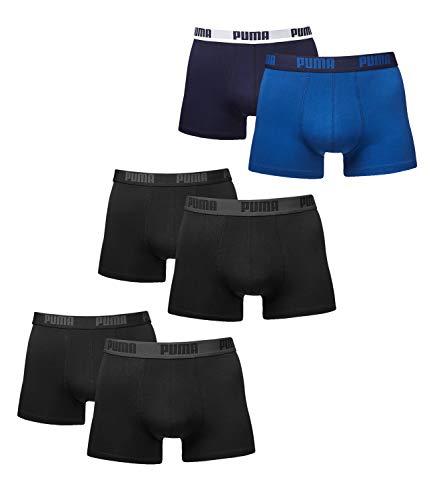 Puma Boxershorts Herren. 6er Pack Retroshorts neue Kollektion 2015/2016 (6er Pack - L/50, blue / black)