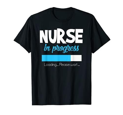 Enfermera en Progreso Divertido Regalo de Escuela Camiseta