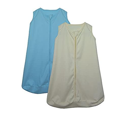 Kit 2 Saco de Dormir Bebê Amarelo e Azul Enxoval Pijama 100% Algodão
