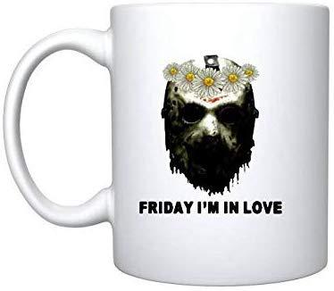 Rael Esthe Jason Voorhees Face Friday I & rsquo; m In Love Follower - Taza de Regalo de 11 oz