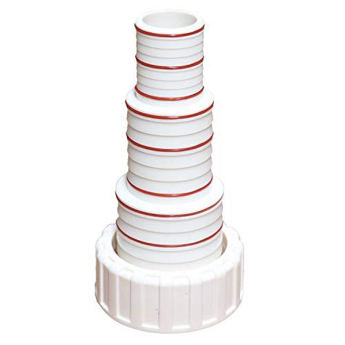 Stufenschlauchtülle für Teichschlauch, Schwimmbadschlauch, Schwimmbadpumpe, Poolpumpe - Durchmesser - 64mm/ 50mm/ 38mm/ 32mm (Stufenschlauchtülle für: 1500/2000 / 3000W)