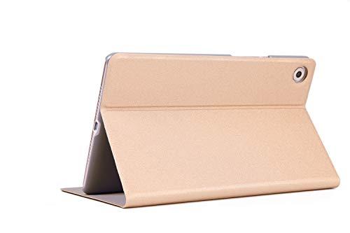 Lobwerk Funda para Huawei MediaPad M58.4Pulgadas Funda Tablet Smart Cover Slim con función Atril y lápiz Capacitivo Dorado Dorado