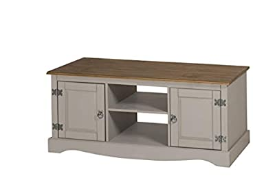 Mercers Furniture Corona Grey Wax 2 Door TV Unit