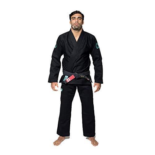 KINGZ Classic 3.0 BJJ Gi negro brasileño Jiu-Jitsu Gi Kimono uniforme de agarre, color negro, tamaño A3L