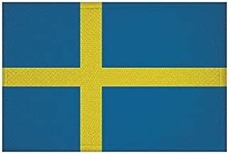 Aufnäher Schweden-Deutschland Fahne Flagge Aufbügler Patch 9 x 6 cm