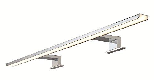 LED Spiegelleuchte für Badezimmer Spiegellampe Bad-Leuchte AALTO Aluminium chrom poliert | Länge 800 mm | Energieeffizienz A++ | warmweiß 3000 K | IP44 geprüft | 13W 230V | Möbelbeschläge von GedoTec®