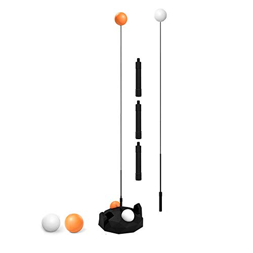 Best Deals! MHUI Table Tennis Trainer,Height Adjustable with Flexible Rapid Rebound Device,for Indoo...