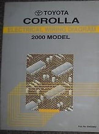 2000 toyota corolla electrical wiring diagrams service shop repair manual  ewd x paperback – 2000