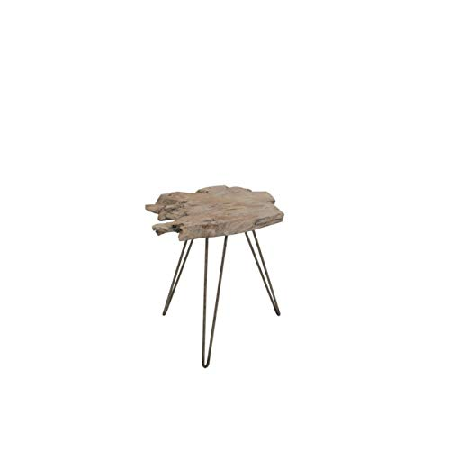 J-Line by Jolipa - Mesa nido trípode de madera irregular, tamaño mediano