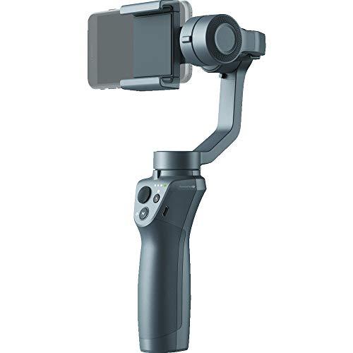 DJI Osmo Mobile 2 - Gimbal a 3 Assi per Smartphone e iPhone, Bluetooth 4.0, Stabilizza le Immagini e Trasforma il tuo iPhone in una Videocamera Intelligente, Grigio