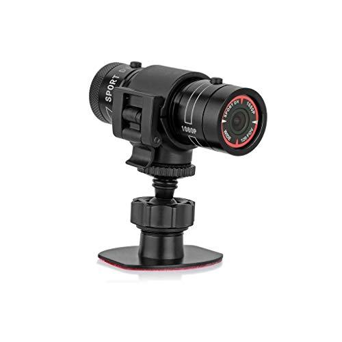 ZNBJJWCP Vigilancia de vídeo portátiles Videocámara HD 1080P Deportes Coche Bicicleta Casco...