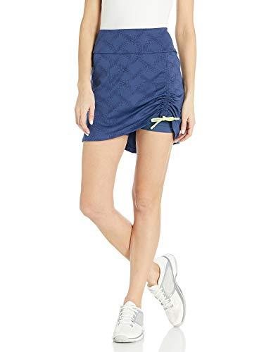 adidas Jacquard Cinch Skort - Skort para Mujer, Mujer, Falda pantalón, TW6003S20, Índigo, XL