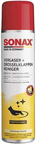 SONAX Vergaser + DrosselklappenReiniger (400 ml) Hochleistungs-Lösemittel für stark verschmutzte und verkokte Motorteile | Art-Nr. 04883000