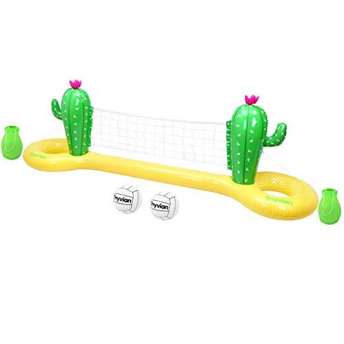 TOYANDONA Red de voleibol hinchable de PVC Cactus flotante para piscina Summer Party (300 x 70 x 100 cm)