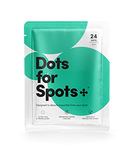 Dots for Spots® Vincitore 2020*, Pimple Patch Originale, Dischetti per Assorbimento Brufoli da Acne, Cruelty Free, 1 Confezione (24 Pezzi)