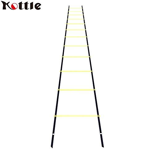 Kottle 6M 12-Rung Sports Agility échelle pour la vitesse, pieds Fitness Football formation