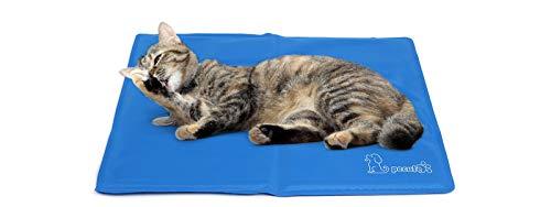 Pecute Tappetino Raffreddamento Cane Gatto - Gel Non tossico - Sistema di Auto Raffreddamento - Perfetto per Cani e Gatti in Estate, XS (30 * 40cm), Blu