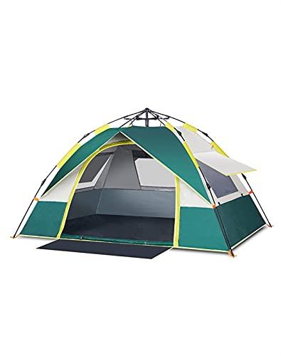 SQL TENTE AUTOMÁTICA AL ATUCTOR Tormenta de Lluvia 3-4 Personas espesando Protector Solar Doble Camping al Aire Libre para Acampar