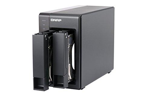 QNAP TS-251+-2G Intel-Quad-Core-NAS-System, HDMI-Support, Transkodierungs- und Virtualisierungsunterstützung, schwarz
