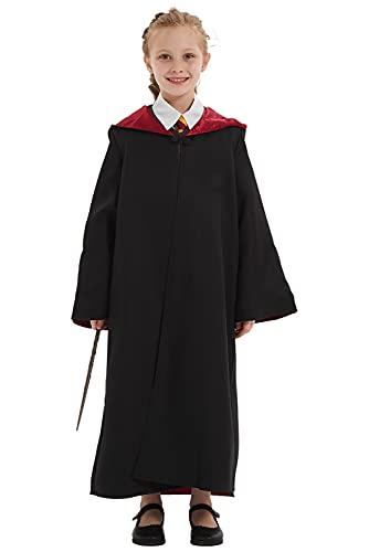 Linen Family Juego de Rol Disfraz Cosplay Pelicula Traje Cortaviento Sweater Falda Corta Capa Camisa Falda Sueter Pecho Corbata,Altura de 135cm