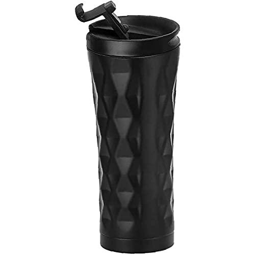Taza De Acero Inoxidable Botella Café Viaje Al Vacío, Agua Creativa Gran Capacidad para Automóvil con Tapa A Prueba Fugas