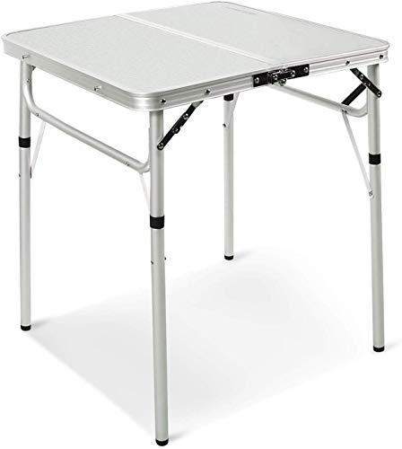 REDCAMP Klappbarer Campingtisch mit verstellbarer Höhe 25,4 cm/68,6 cm, zusammenklappbarer kleiner Picknicktisch für Outdoor, Küche, Garten, Partys