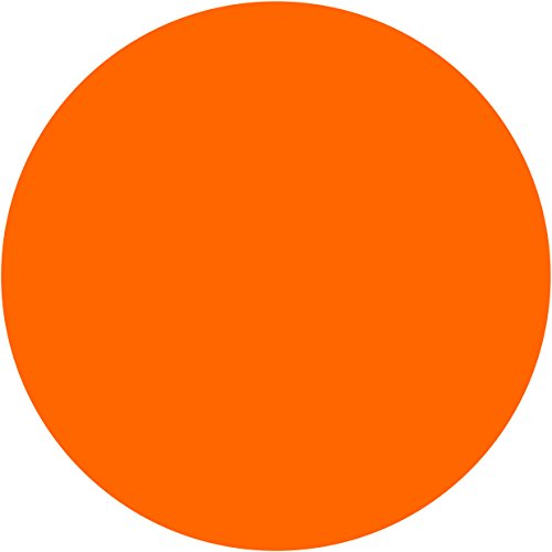 iFUOFF Mouse Pad, The Most Popular Bright Orange Fashion Design Circular Mousepad with Rubber