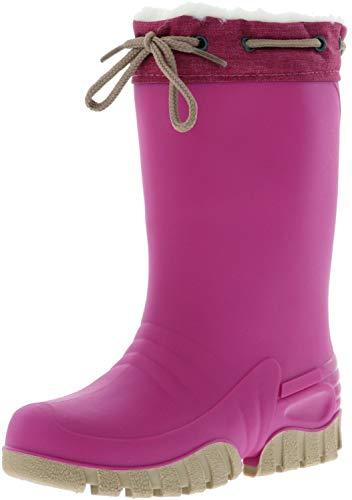 Spirale Kinder Mädchen gefütterter Gummistiefel Winterstiefel Clima Boot pink, Farbe:Pink, Größe:32