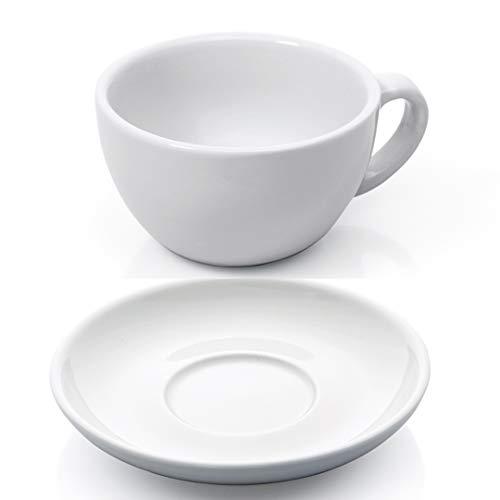 Gastro Spirit - 12-teiliges XL Cappuccino-Tassen Set - Weiß, 280 ml, Porzellan, dickwandig