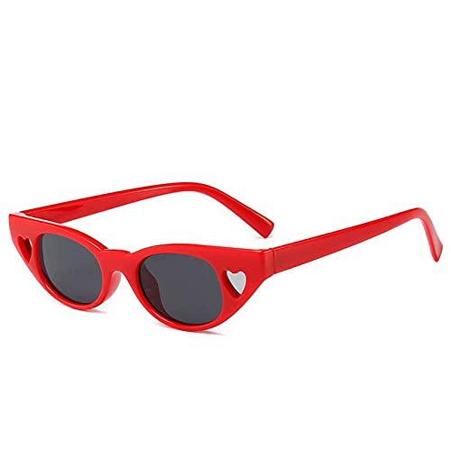 AMFG Amor Damas Gafas De Sol Hombres Y Mujeres Calle Gafas De Sol Gafas De Sol Gafas De Conducción Al Aire Libre (Color : B, Size : M)