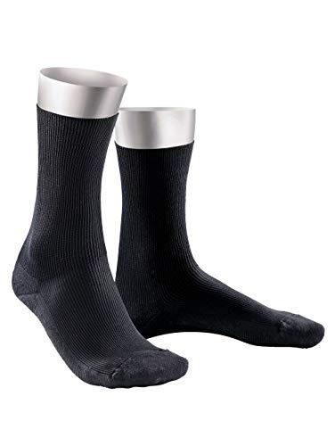 Weissbach Herren Komfort-Socken schwarz