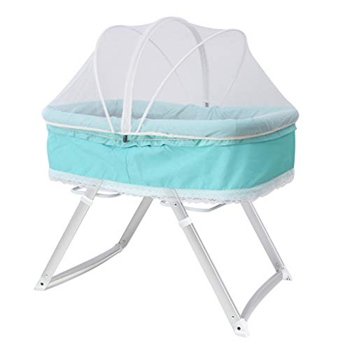 Cheapest Price! Balance Bouncer Cradle Bedside Sleeper Baby Bassinet Rocking Crib with Mosquito Net ...