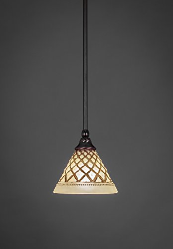 Filament Design Concord 1-Light Black Copper Incandescent Ceiling Pendant