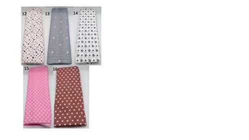 Stoffpaket Sterne Punkte verschiedene Größen Baumwolle Stoffreste Webware Patchen Patchwork Baumwollstoff Restepaket grau rosa rot weiß