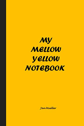 My Mellow Yellow Notebook: Great for brainstorming ideas, creative writing, or just doodling