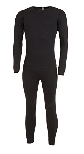 Medico Ensemble de sous-vêtements thermiques pour homme L noir