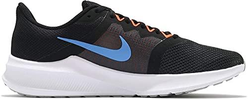Nike Downshifter 11, Zapatillas para Correr Hombre, Black Coast Total Orange Dk Smoke Grey White Lt Smoke Grey, 45 EU
